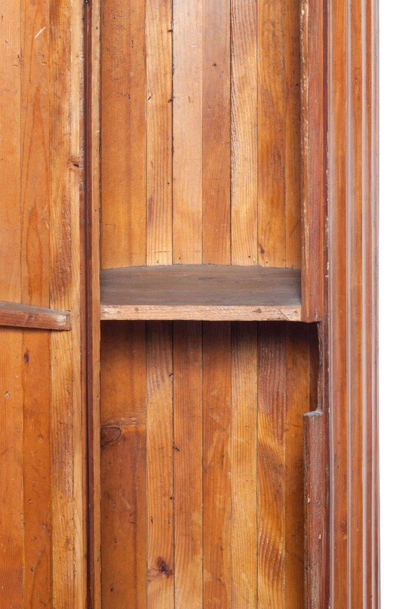 Colonna antica imperiale in legno di ciliegio con scomparto in ...