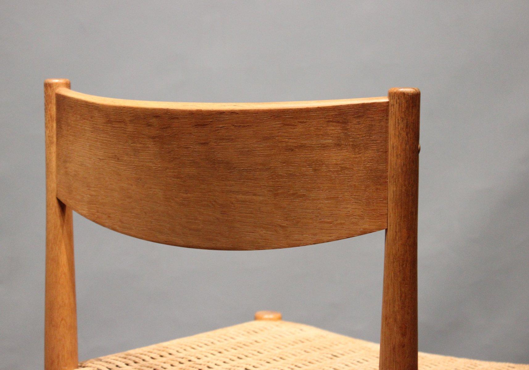 esszimmerst hle aus eiche von poul m volther f r frem. Black Bedroom Furniture Sets. Home Design Ideas