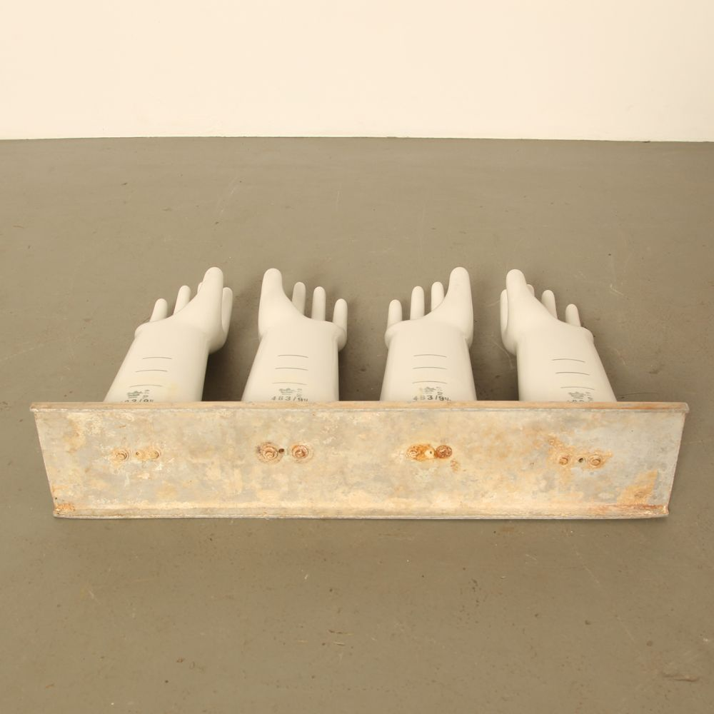 Vintage Small Latex Glove Mold By Rosenthal 1979 Set Of