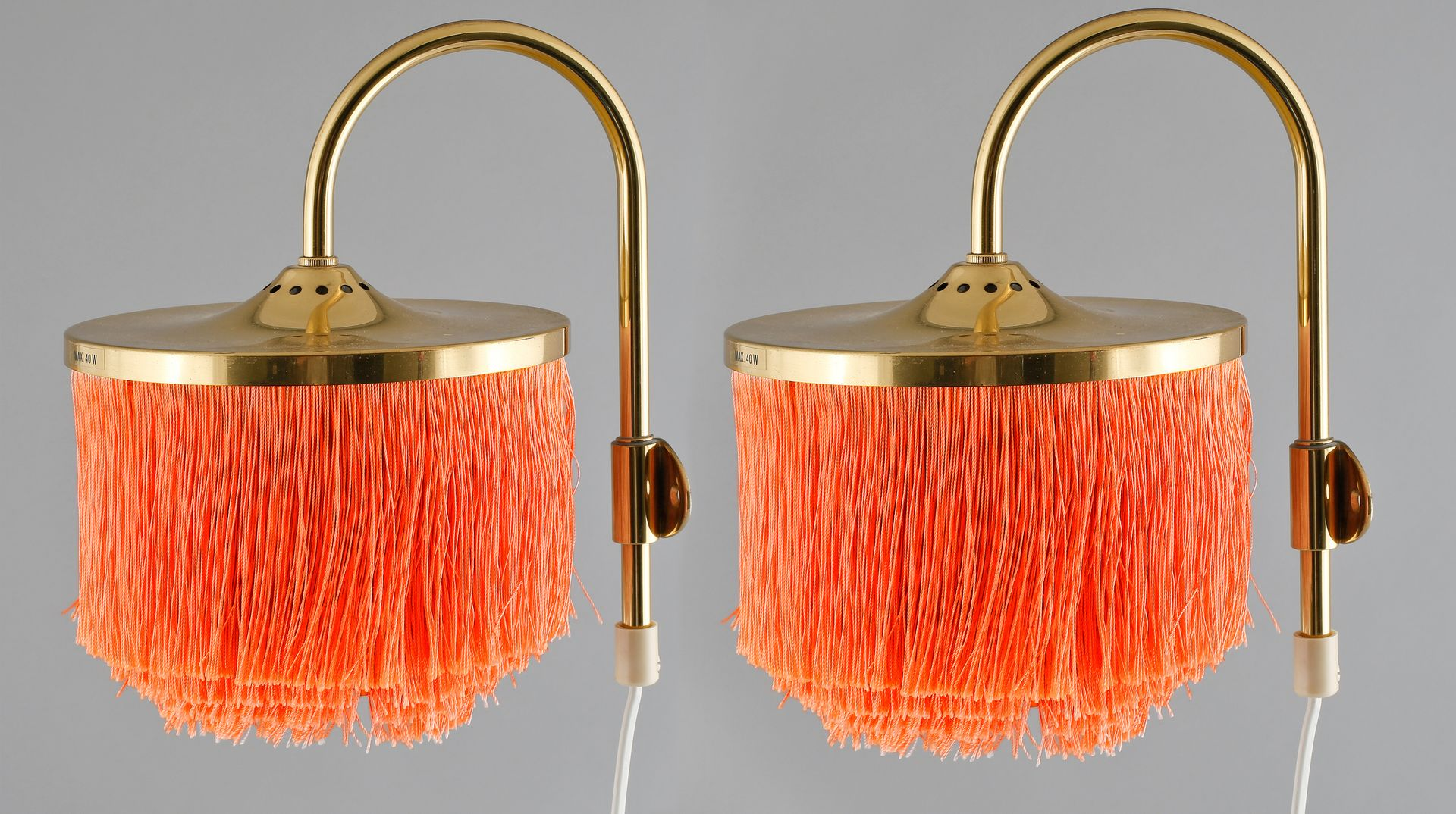 v271 wandlampen mit fransen von hans agne jakobsson f r hans agne jakobsson ab markaryd 1960er. Black Bedroom Furniture Sets. Home Design Ideas