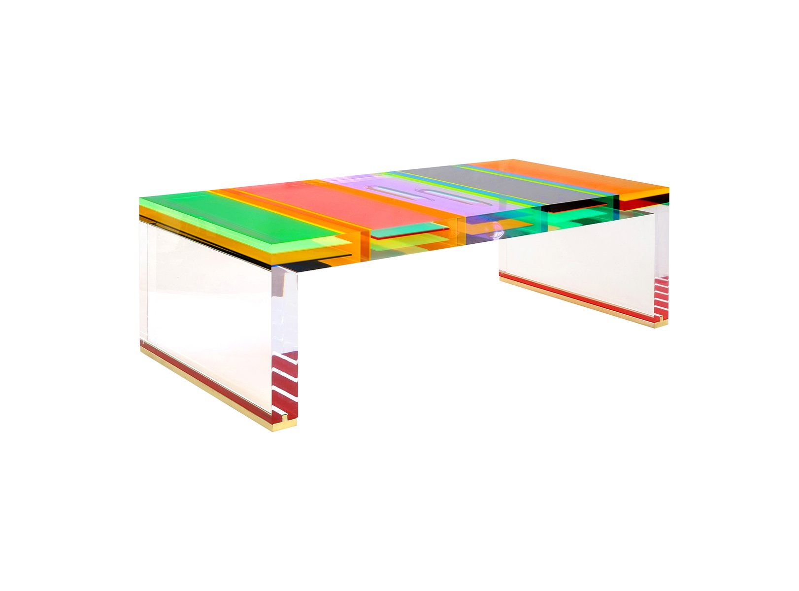 Table basse dna en plexiglas par studio superego en vente for Table basse en plexiglas