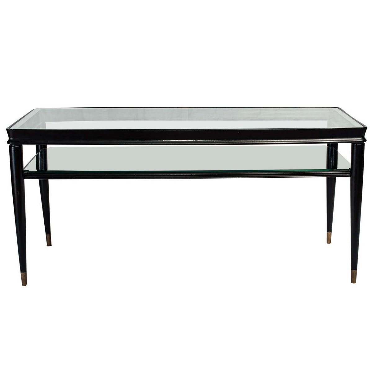 schwarz lackierter italienischer vintage tisch bei pamono. Black Bedroom Furniture Sets. Home Design Ideas