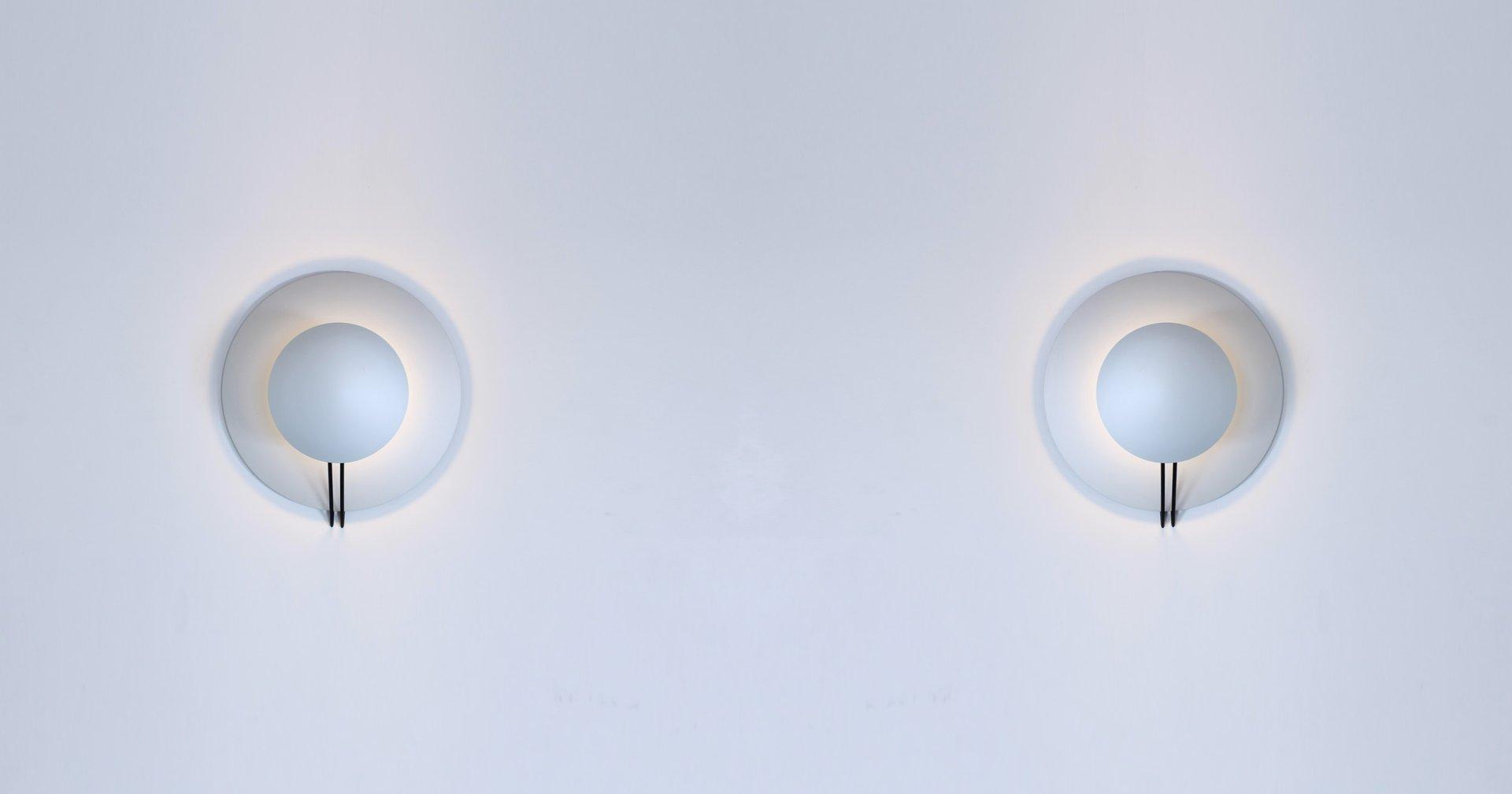 Italian Aluminium Vega Sconces by Cesaro & Amico for Tre Ci Luce ...