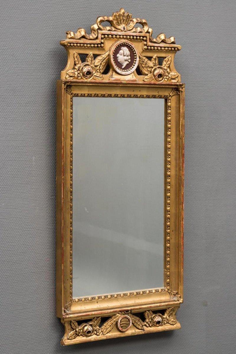 antiker gustavianischer spiegel bei pamono kaufen. Black Bedroom Furniture Sets. Home Design Ideas