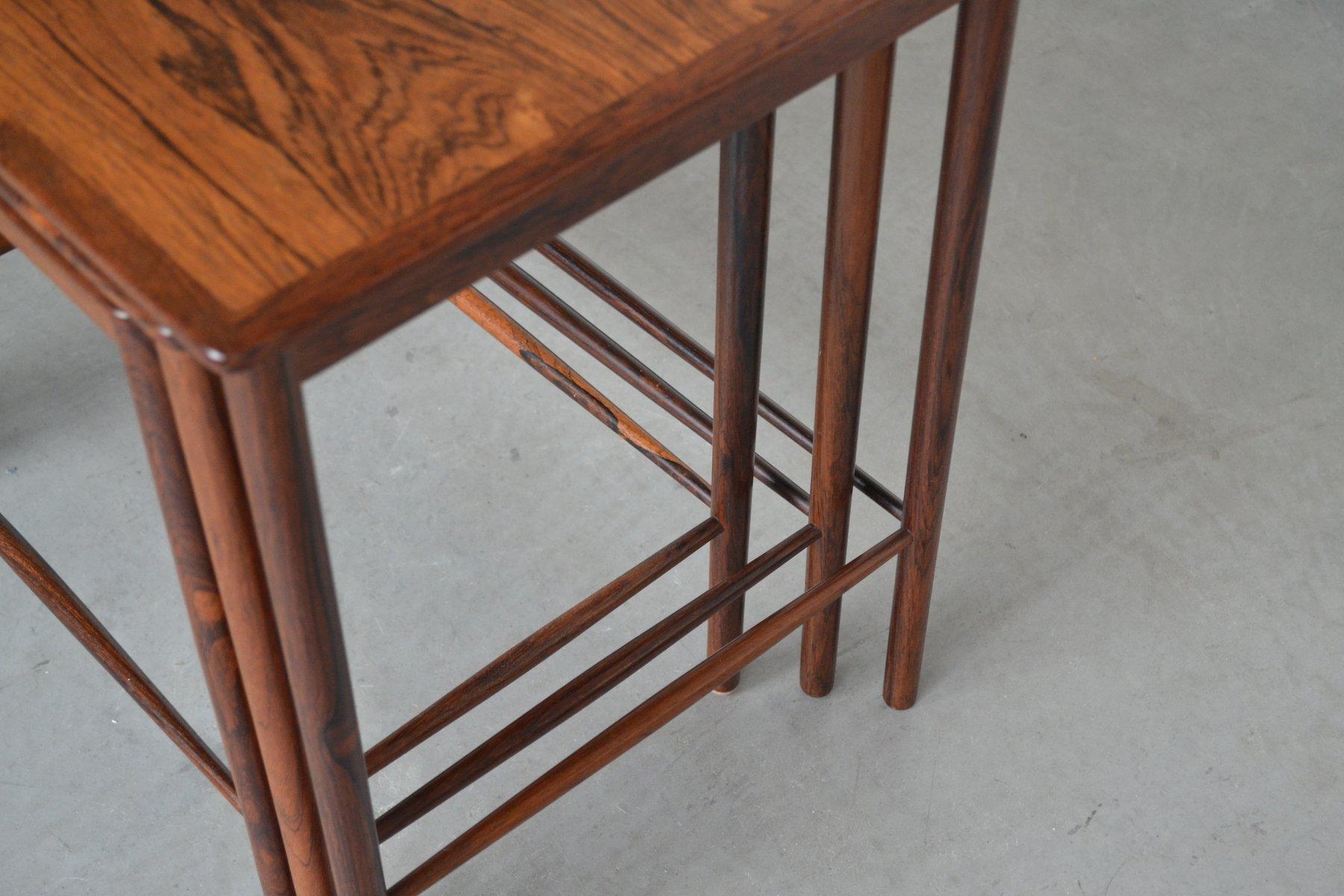 Nesting Tables By Grete Jalk For P. Jeppesens Møbelfabrik, 1960s, Set Of 3