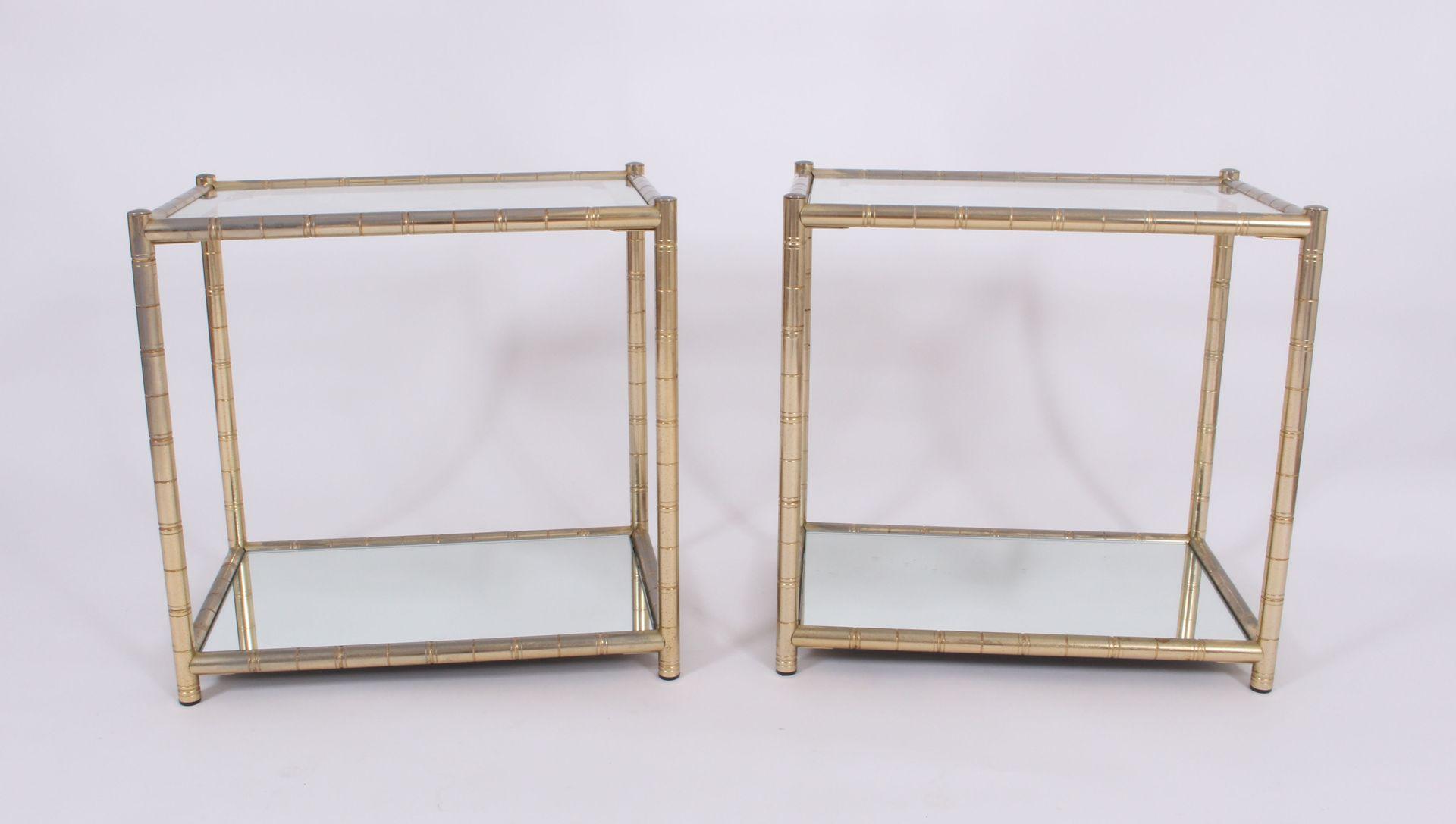 vintage beistelltische aus vergoldetem metall 2er set bei. Black Bedroom Furniture Sets. Home Design Ideas