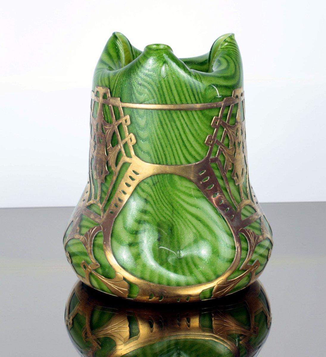 Art nouveau glass vase with brass mount from josef rindskopfs price per piece reviewsmspy