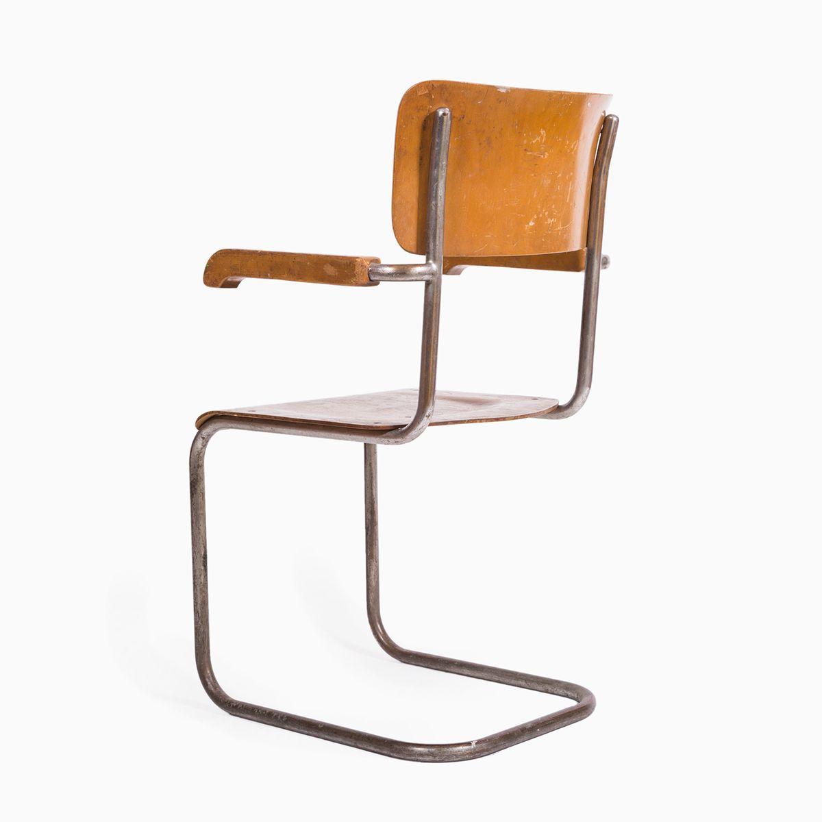 brauner mid century stuhl 1960er bei pamono kaufen. Black Bedroom Furniture Sets. Home Design Ideas
