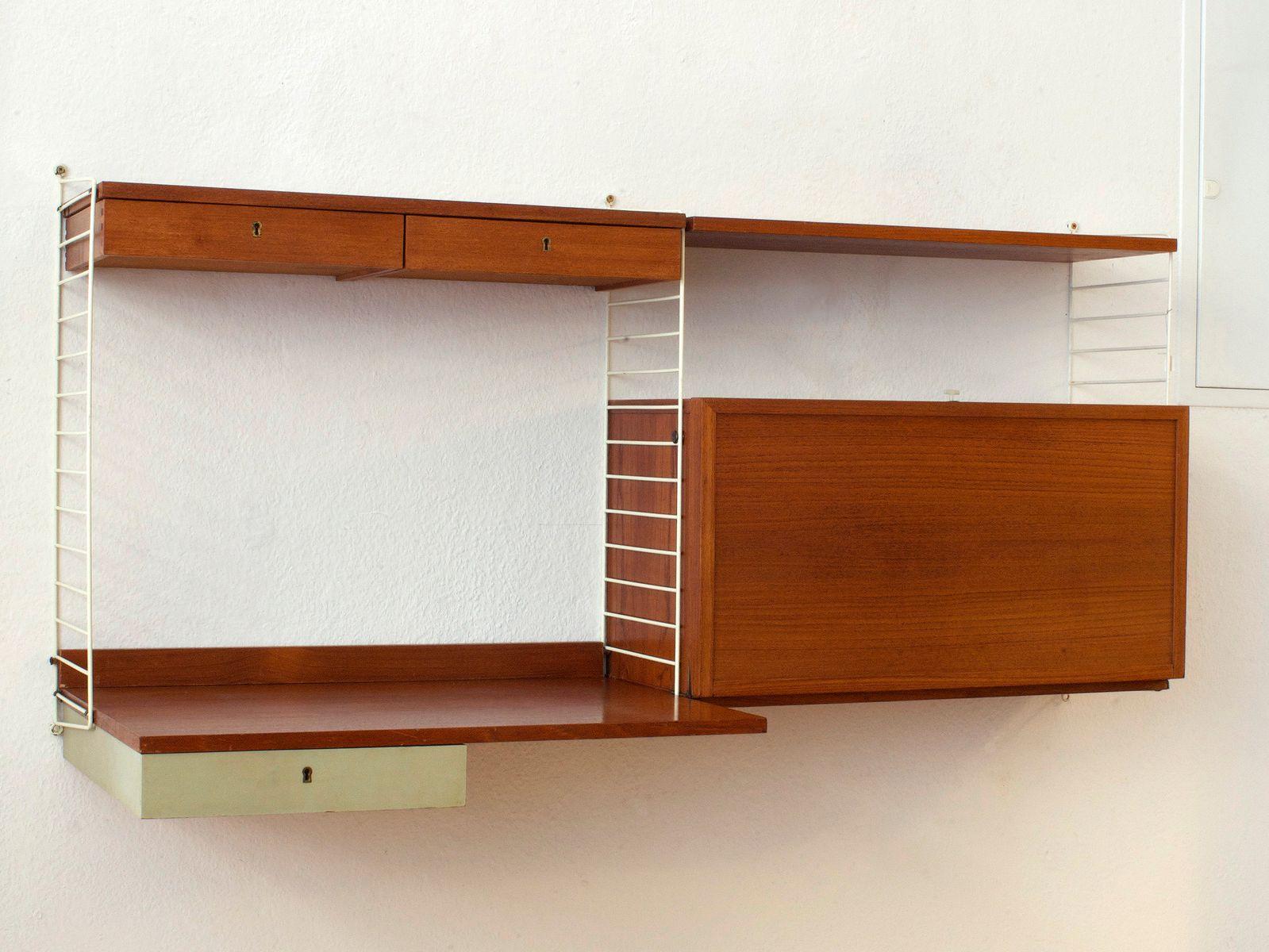 Nisse Strinning wall unit by kajsa nils nisse strinning for string 1950s for