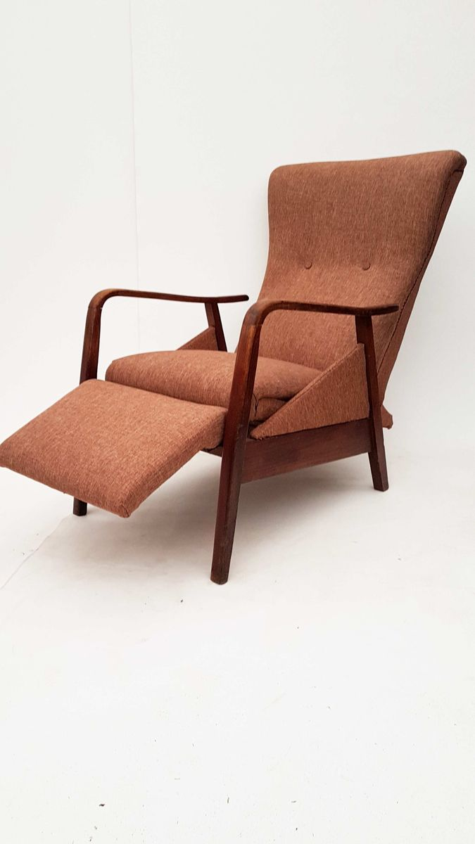 sessel mit fu ablage 1960er bei pamono kaufen. Black Bedroom Furniture Sets. Home Design Ideas