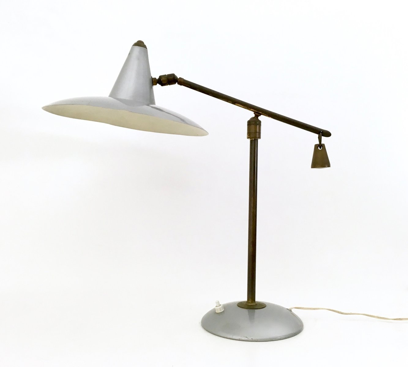 Brass varnished metal table lamp 1950s for sale at pamono brass varnished metal table lamp 1950s mozeypictures Image collections