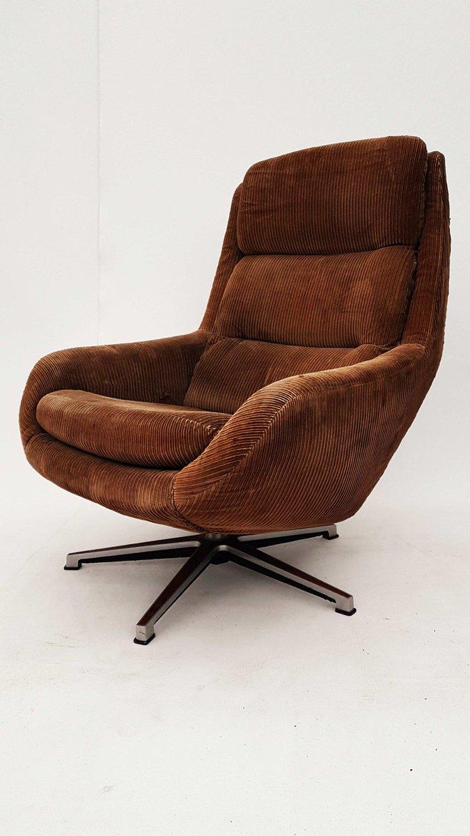 German Swivel Lounge Chair, 1970s