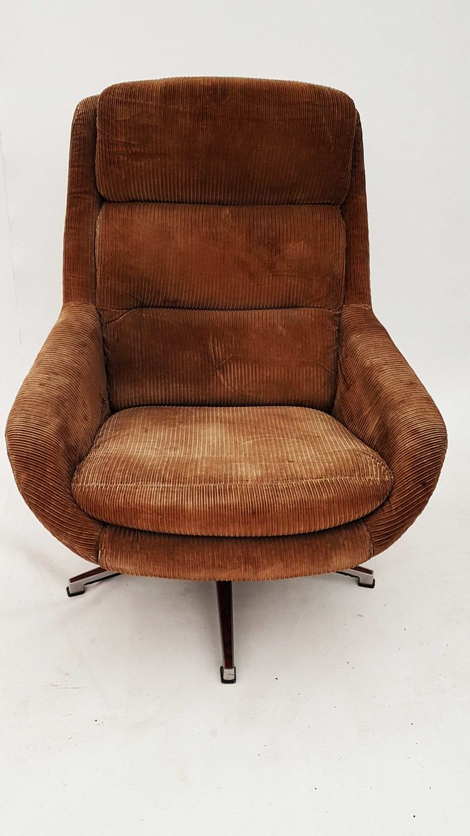German Swivel Lounge Chair 1970s For Sale At Pamono