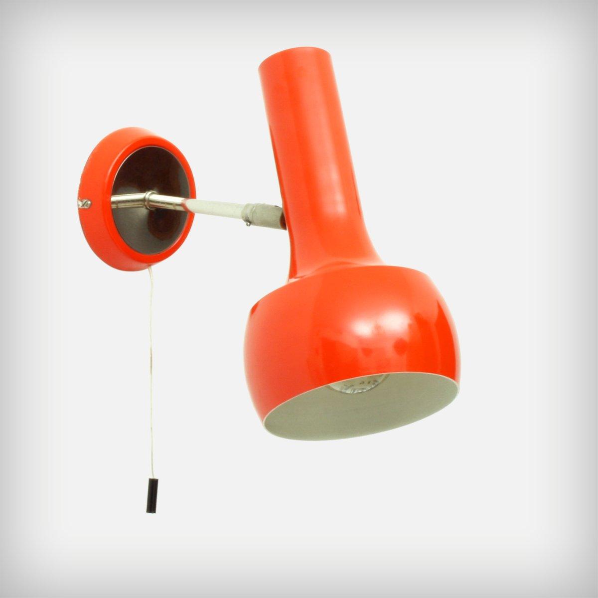 Schweizer rot orange wand oder deckenlampe von lad team for Wand orange