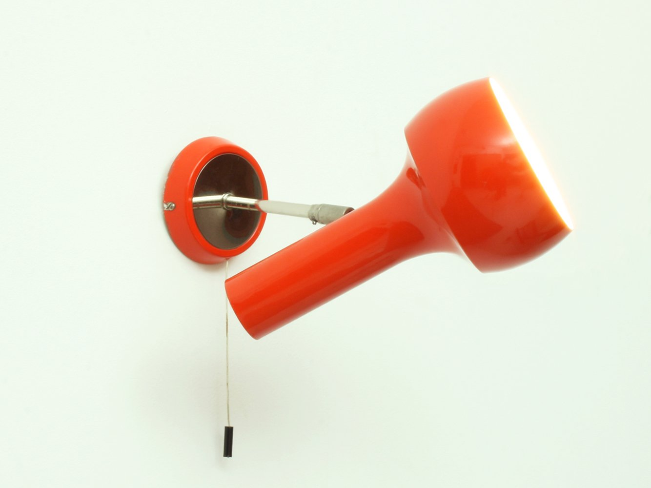 schweizer rot orange wand oder deckenlampe von lad team. Black Bedroom Furniture Sets. Home Design Ideas