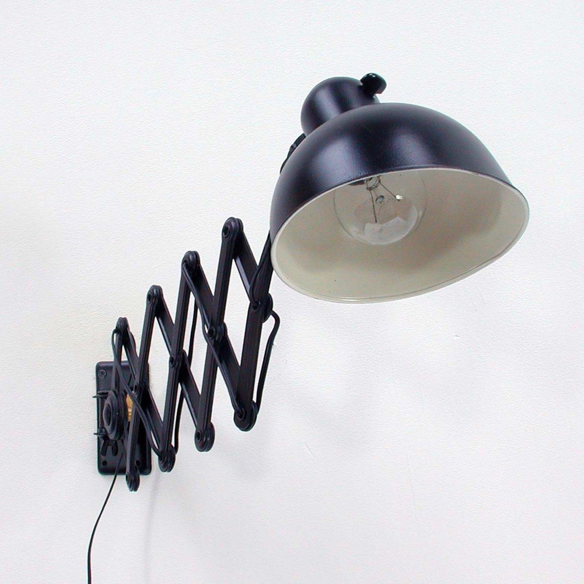 Black 6718 Scissor Lamp By Christian Dell For Kaiser Idell