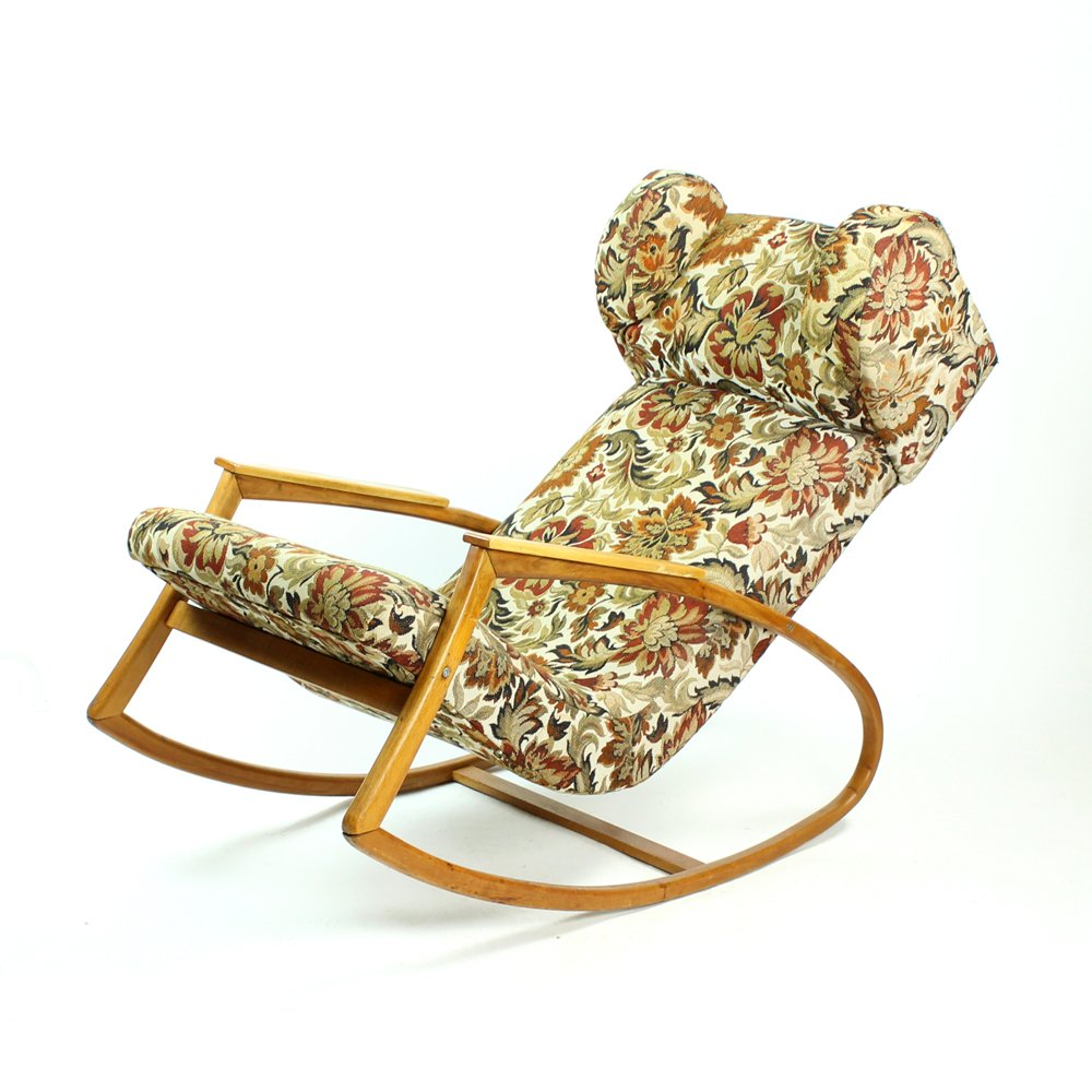 Large Rocking Chair In Bentwood, 1930s