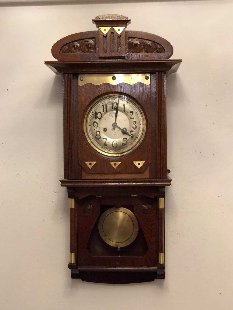 German Art Nouveau Wall Clock, 1910s 3. Previous