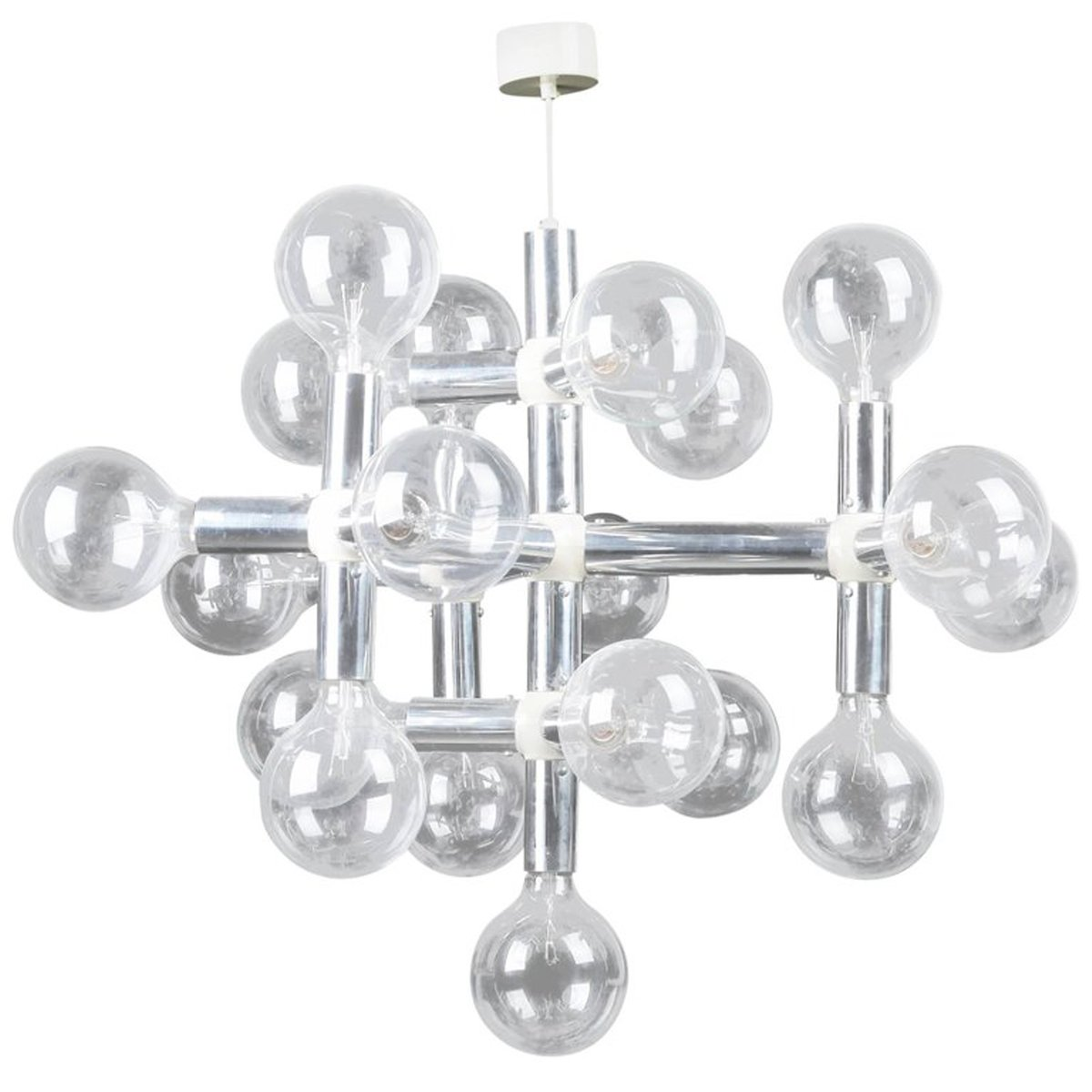Atomic Chandelier by Robert Haussmann for Swiss Lamps International ...