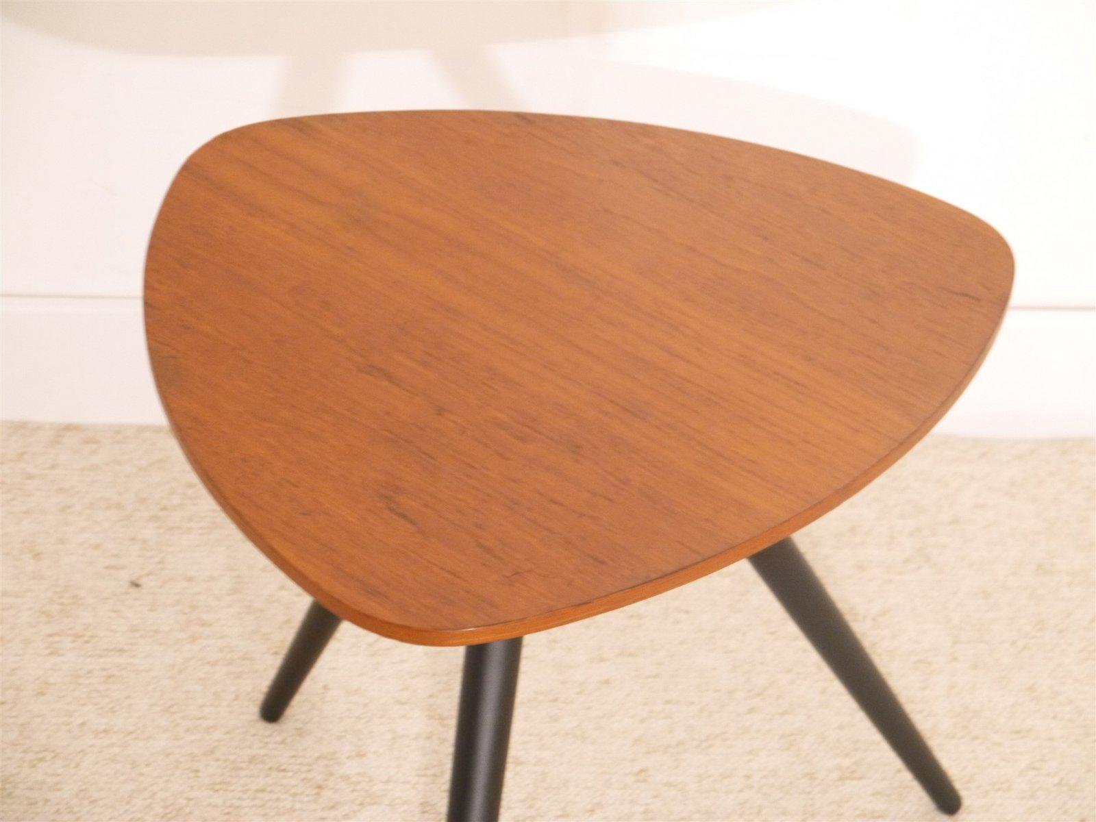 vintage scandinavian tripod side table in teak for sale at