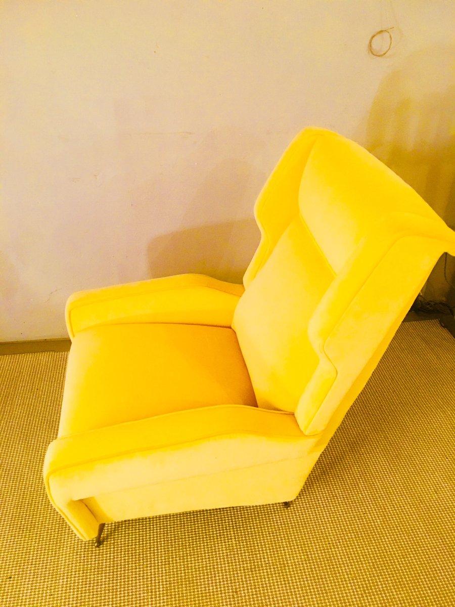 gelber sessel 1960er bei pamono kaufen. Black Bedroom Furniture Sets. Home Design Ideas