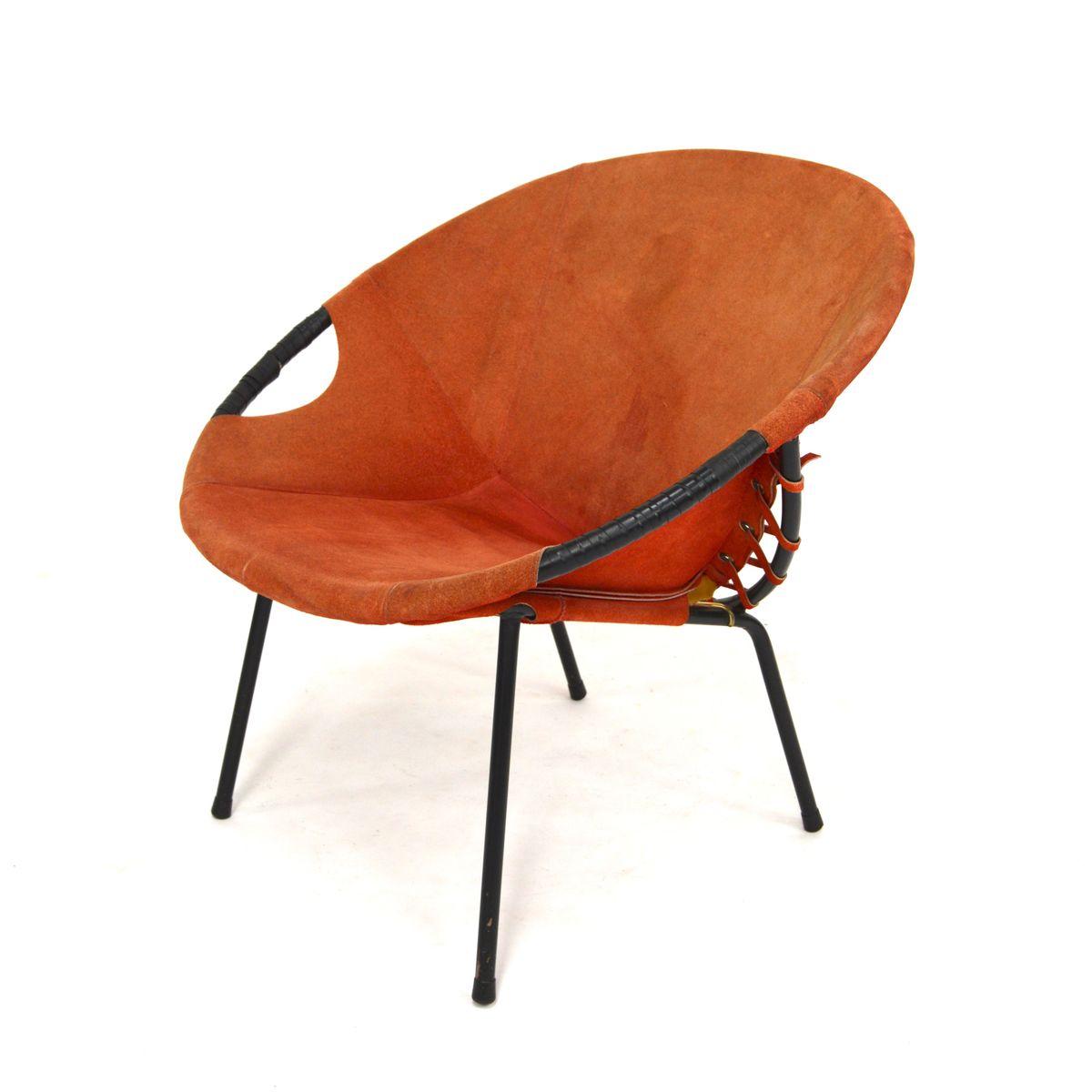 runder vintage stuhl von lusch co bei pamono kaufen. Black Bedroom Furniture Sets. Home Design Ideas