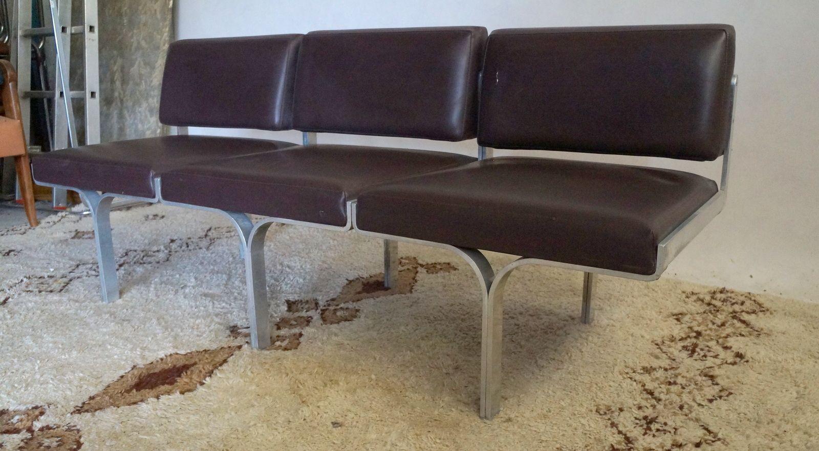 3 sitzer sofa von john behringer 1960er bei pamono kaufen. Black Bedroom Furniture Sets. Home Design Ideas