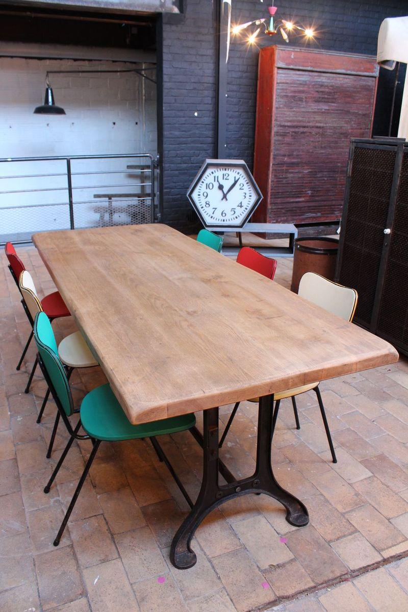 industrieller vintage tisch bei pamono kaufen. Black Bedroom Furniture Sets. Home Design Ideas