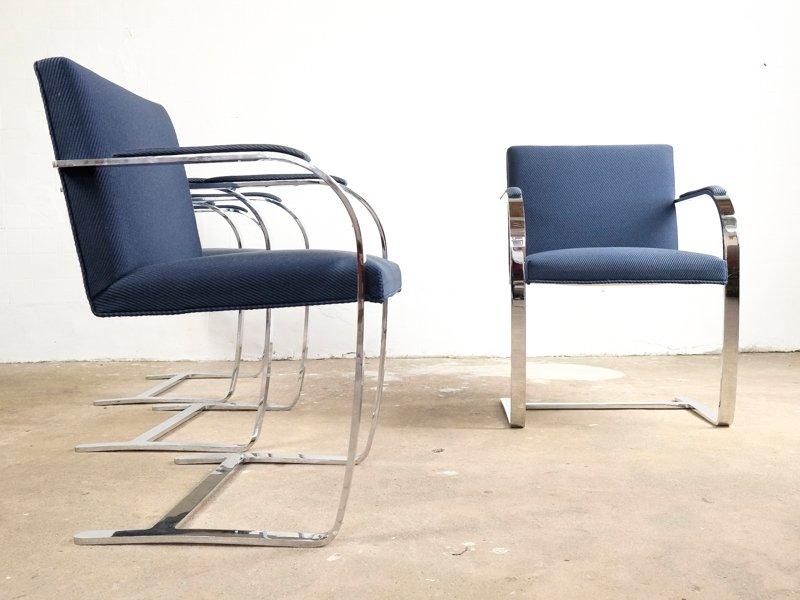 brno st hle von ludwig mies van der rohe f r knoll international 1980er 6er set bei pamono kaufen. Black Bedroom Furniture Sets. Home Design Ideas