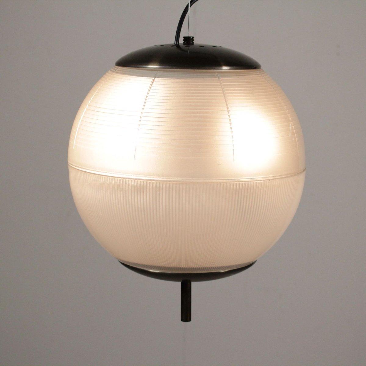 h ngelampe aus glas br niertem messing 1960er bei pamono kaufen. Black Bedroom Furniture Sets. Home Design Ideas