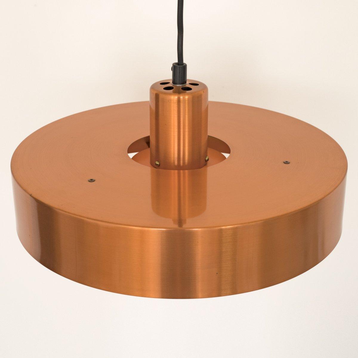 Roulet spun copper pendant light by jo hammerborg for fog mrup 51200 aloadofball Images