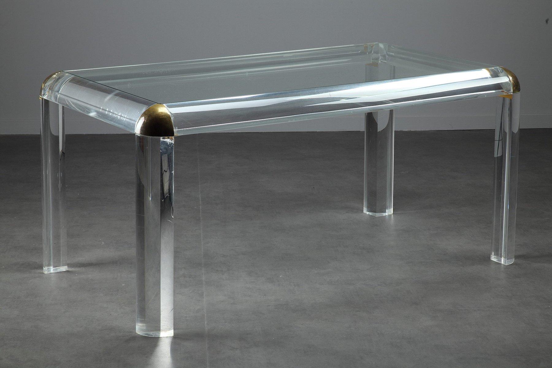 Italienischer plexiglas tisch 1970er bei pamono kaufen for Plexiglas tisch design