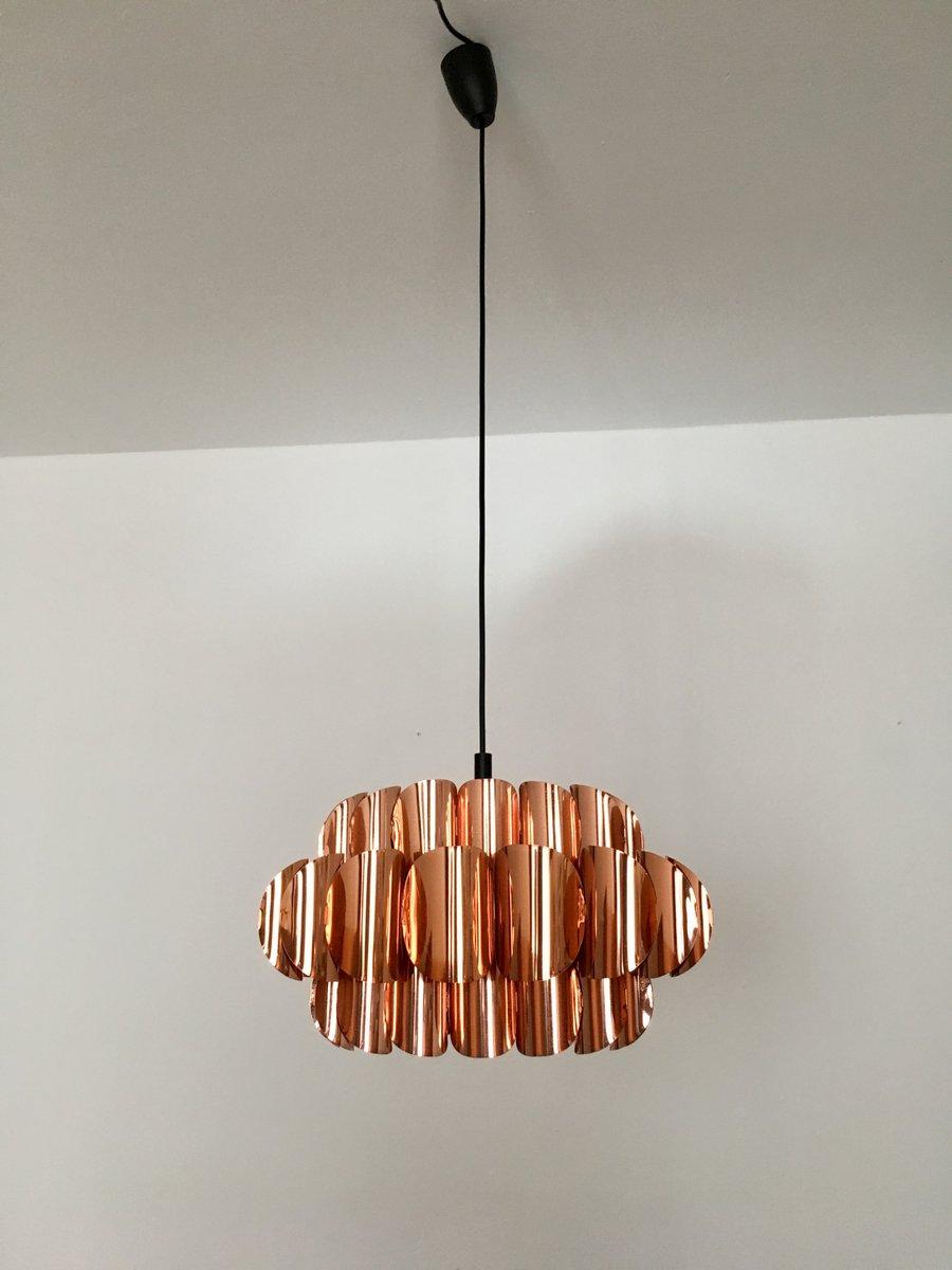 kupfer deckenlampe von hans agne jakobsson 1960er bei pamono kaufen. Black Bedroom Furniture Sets. Home Design Ideas