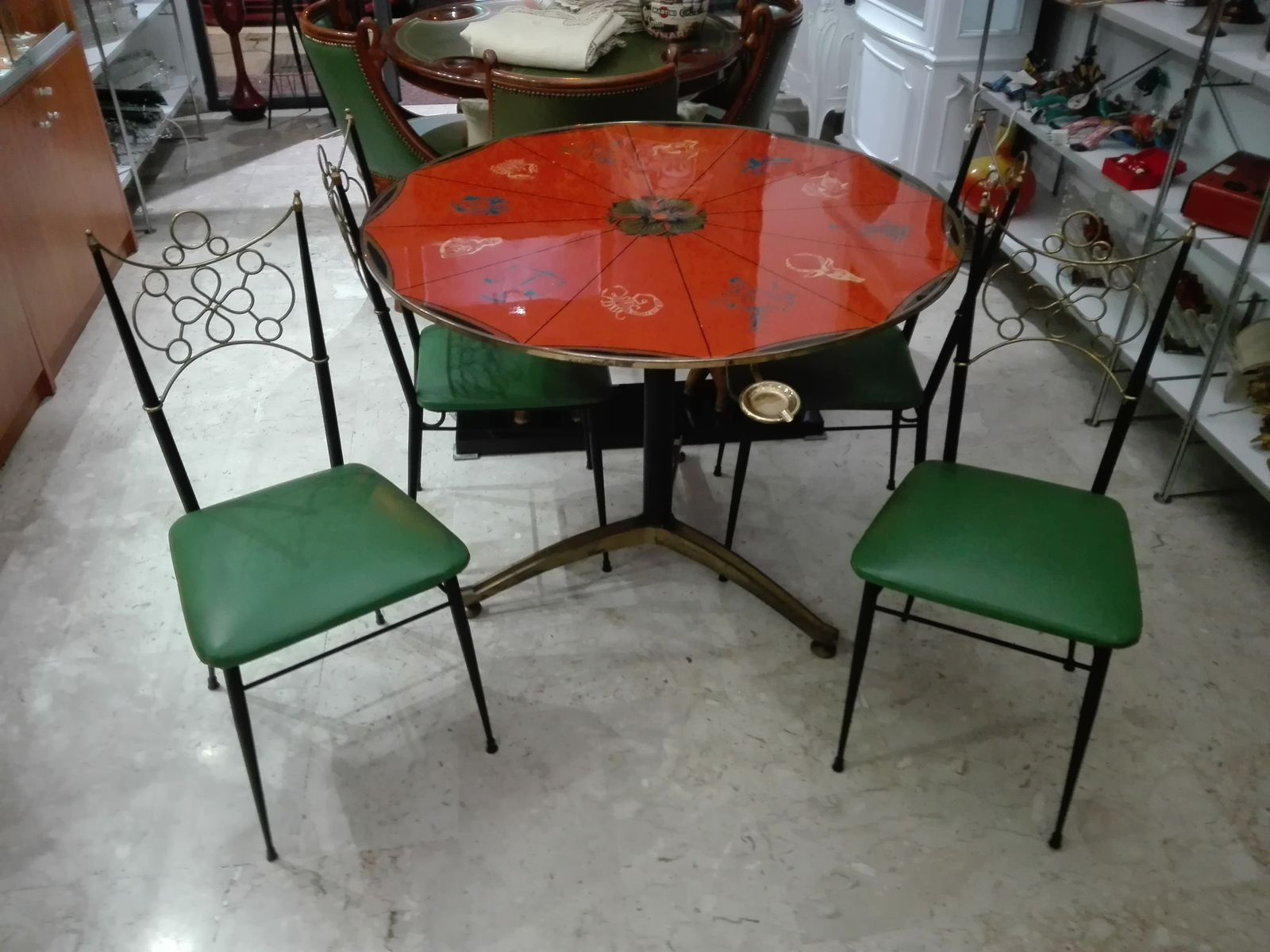 Zodiac Coffee Table & Chairs Set by Ignazio Gardella for sale at