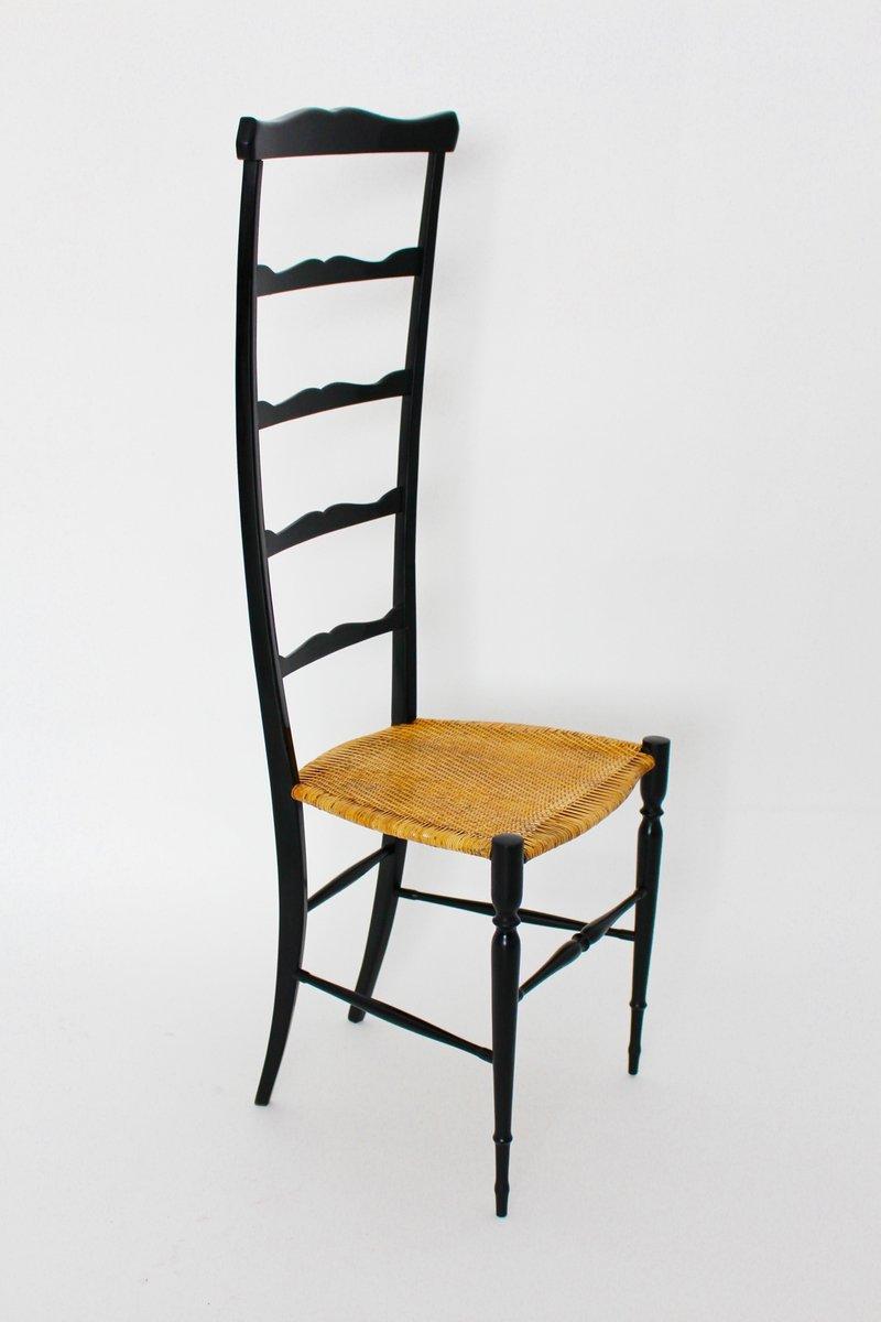 italienischer vintage stuhl mit hoher r ckenlehne von. Black Bedroom Furniture Sets. Home Design Ideas