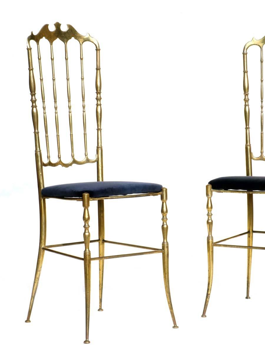 italienische chiavari st hle 1950er 2er set bei pamono. Black Bedroom Furniture Sets. Home Design Ideas