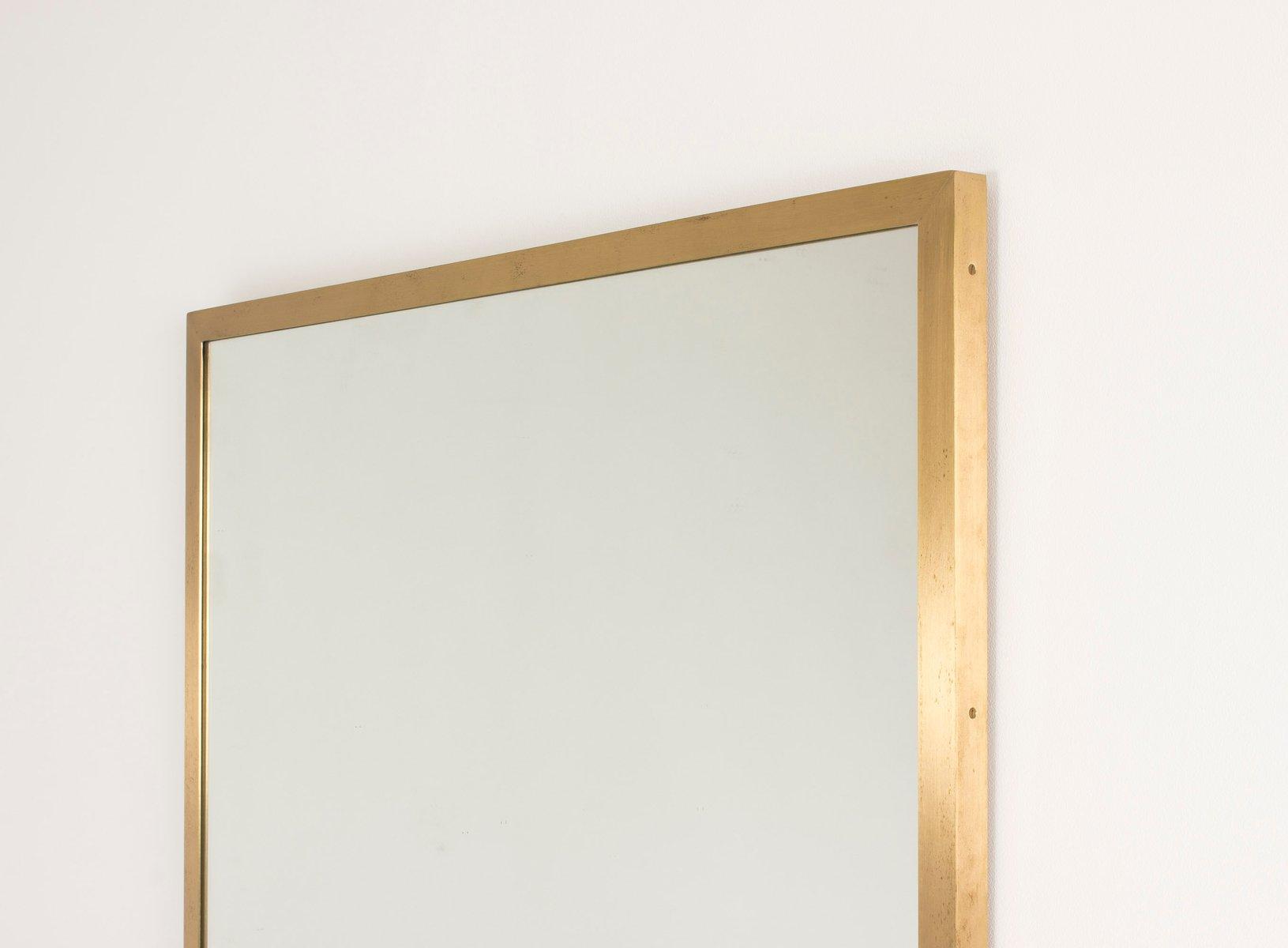 schwedischer mid century spiegel aus messing 1950er bei pamono kaufen. Black Bedroom Furniture Sets. Home Design Ideas