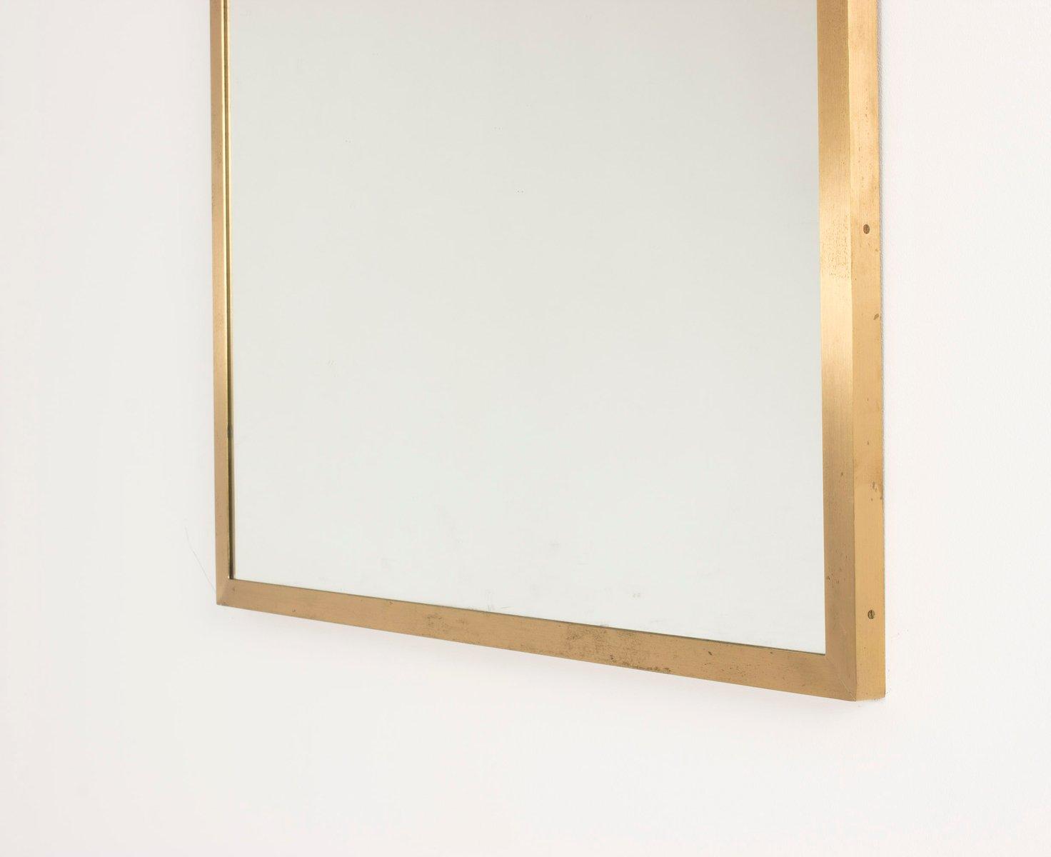 schwedischer mid century spiegel aus messing 1950er bei. Black Bedroom Furniture Sets. Home Design Ideas