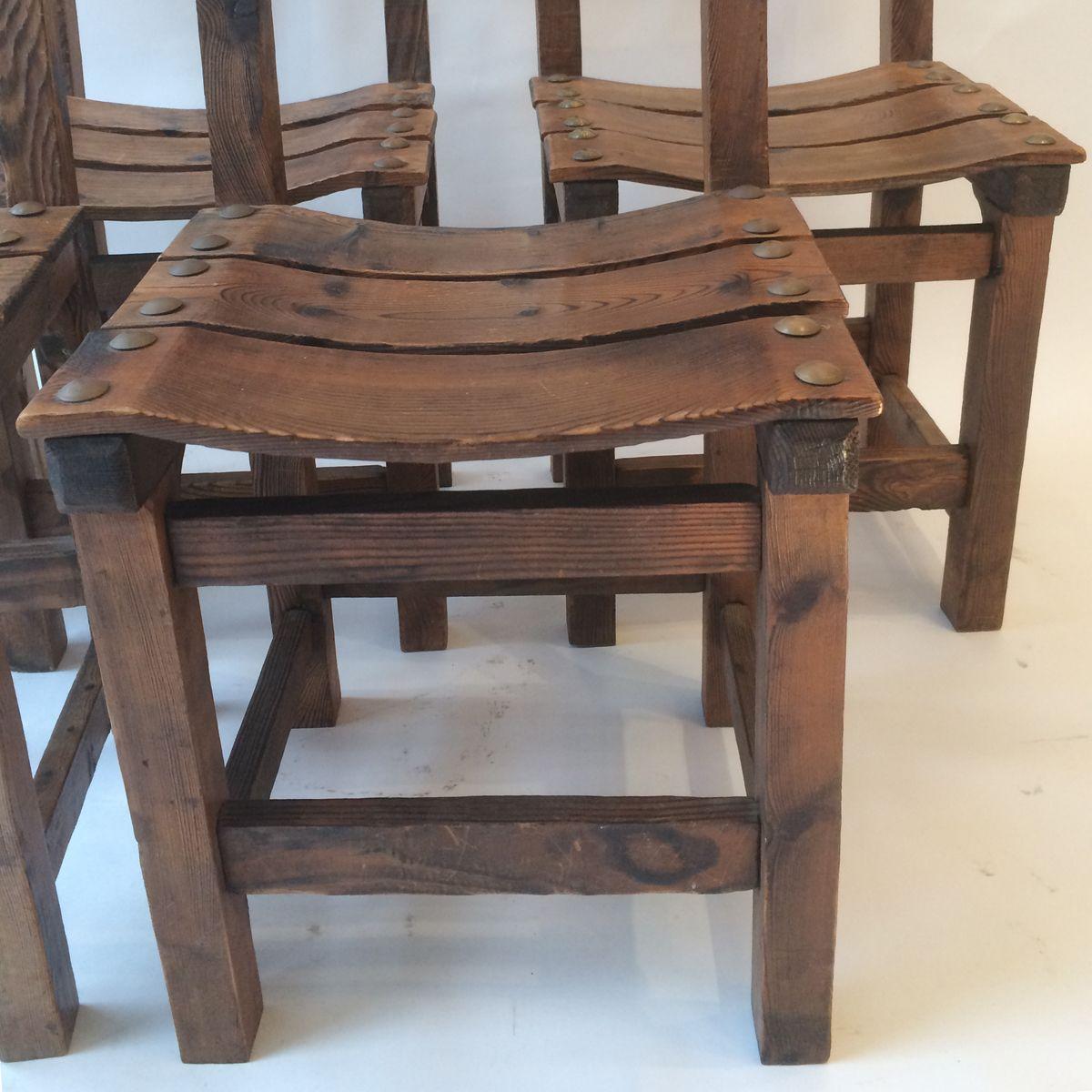 kiefernholz stuhl 1950er bei pamono kaufen. Black Bedroom Furniture Sets. Home Design Ideas