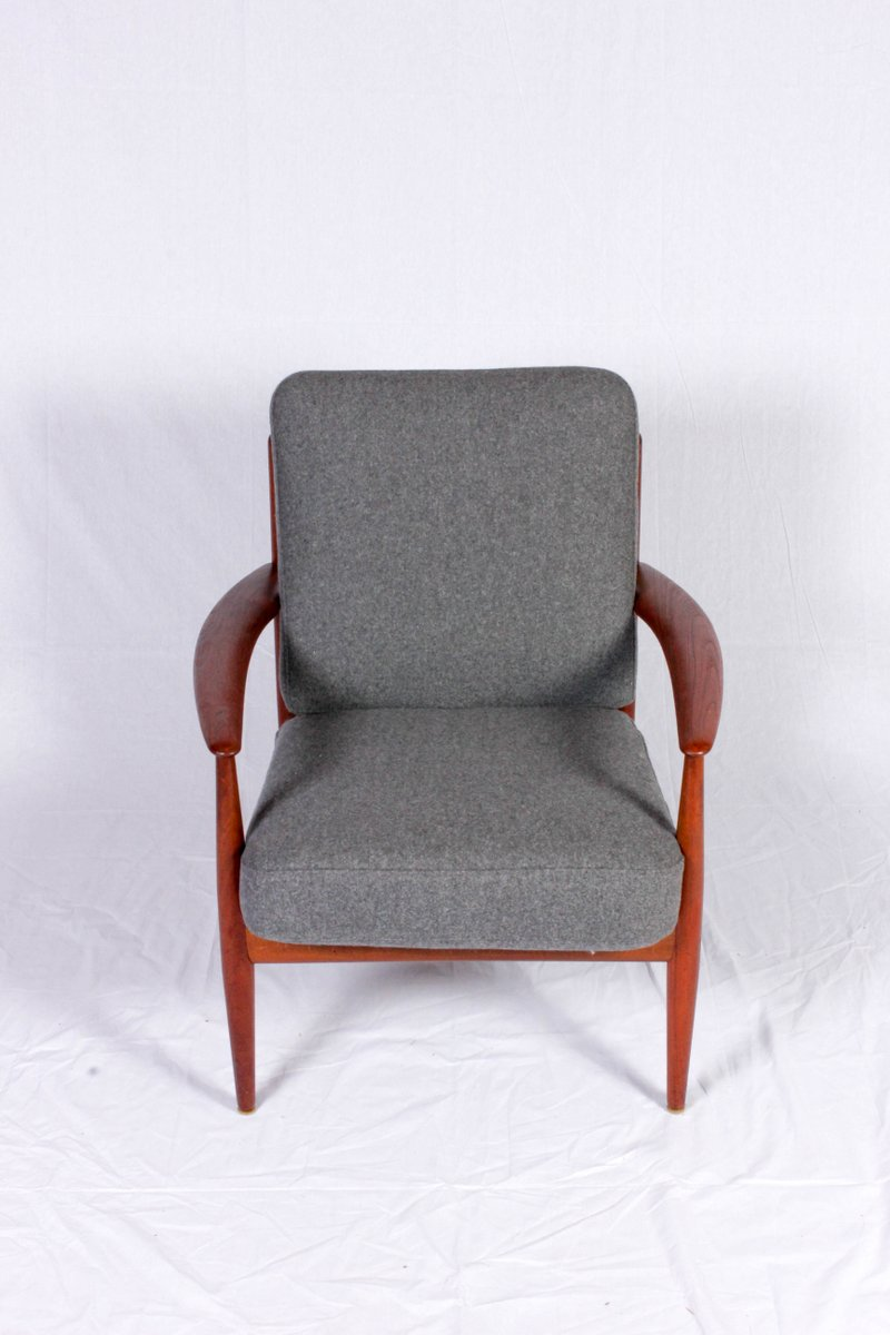 Mid Century Teak Lounge Chair By Grete Jalk For Glostrup Møbler For