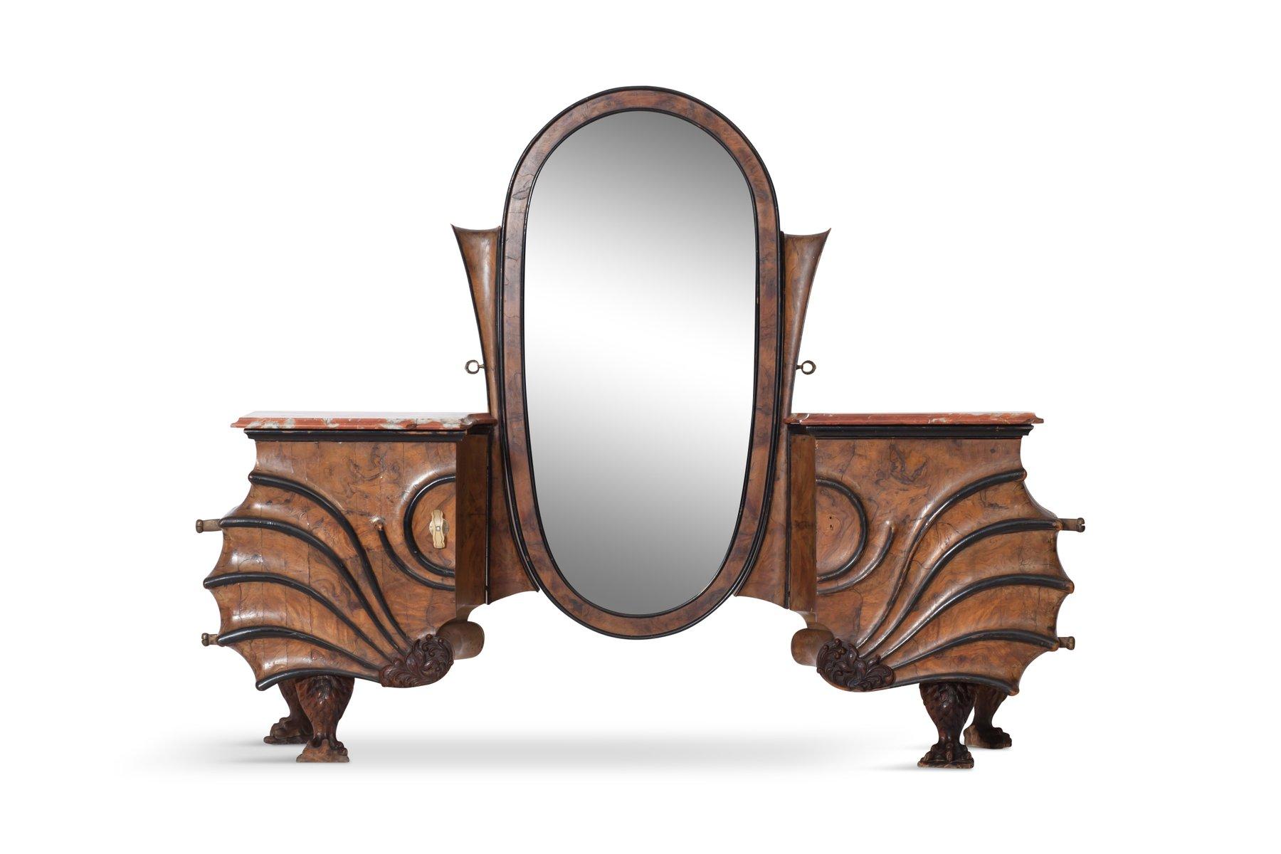 vintage art nouveau vanity console for sale at pamono. Black Bedroom Furniture Sets. Home Design Ideas