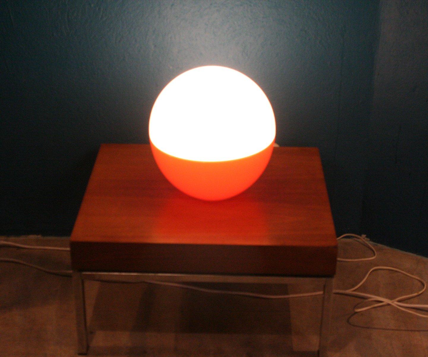 runde glas tischlampe 1960er bei pamono kaufen. Black Bedroom Furniture Sets. Home Design Ideas