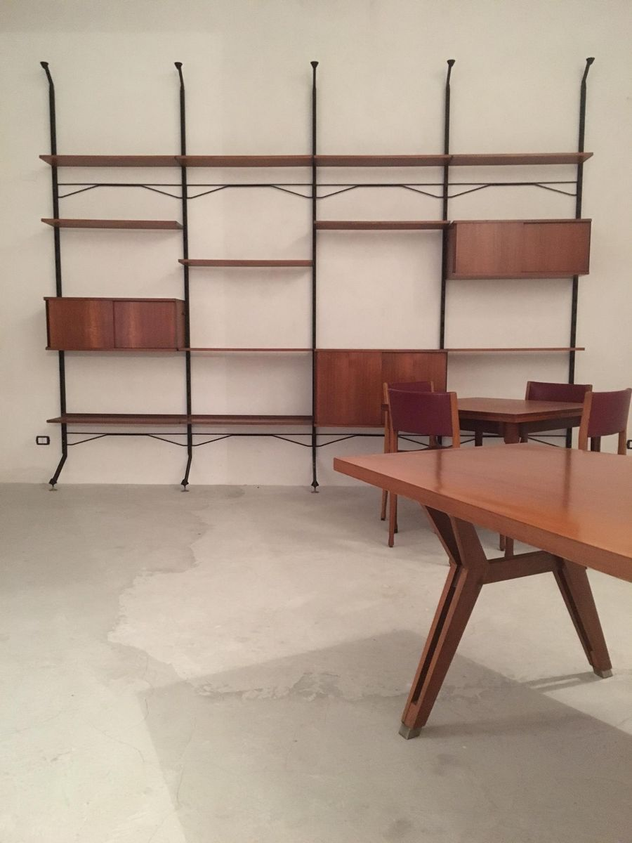 Vintage walnut conference table by ico parisi for mim for Mobili italiani design
