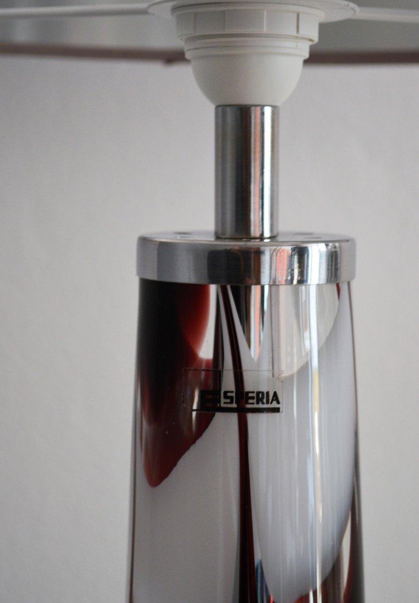 italienische tischlampe aus glas chrom von esperia. Black Bedroom Furniture Sets. Home Design Ideas