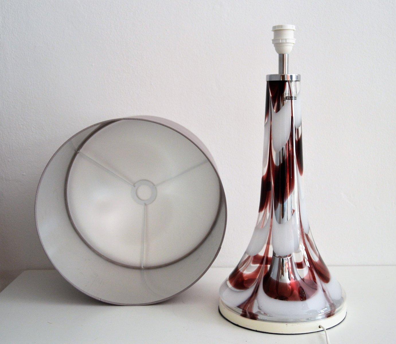 italienische tischlampe aus glas chrom von esperia 1970er bei pamono kaufen. Black Bedroom Furniture Sets. Home Design Ideas