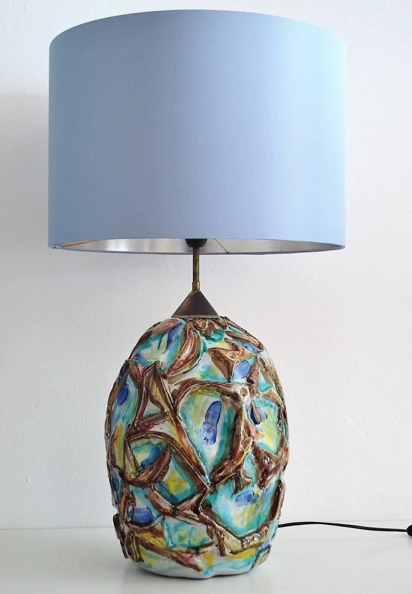 Italian Ceramic Table Lamp 1960s For Sale At Pamono