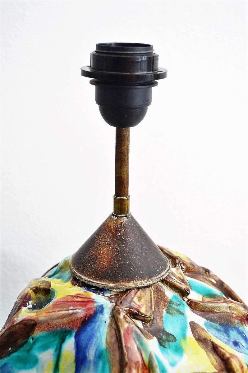 lampe de bureau en c ramique italie 1960s en vente sur pamono. Black Bedroom Furniture Sets. Home Design Ideas