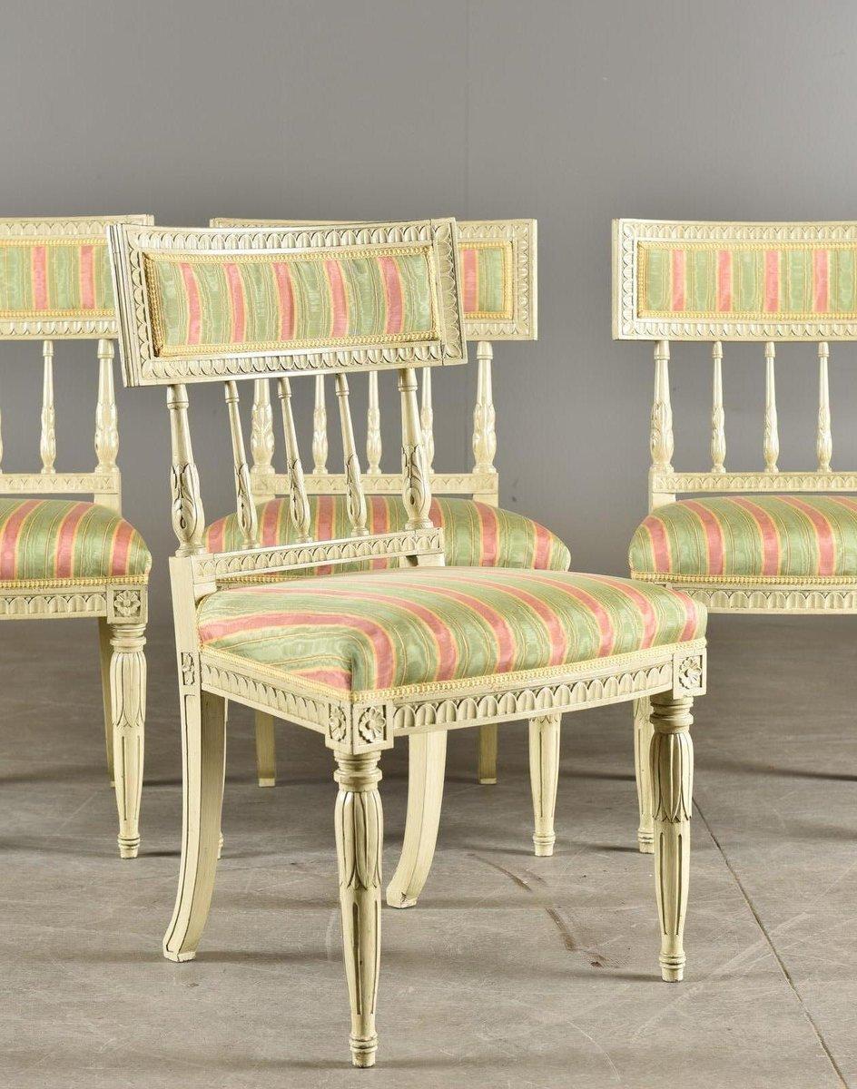 antike sengustavianische st hle 4er set bei pamono kaufen. Black Bedroom Furniture Sets. Home Design Ideas