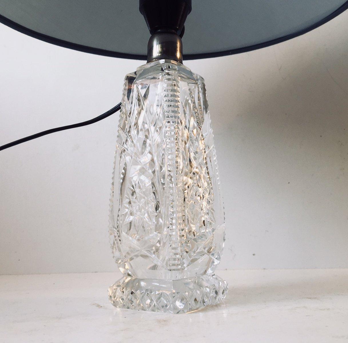 Skandinavische vintage tischlampen mit kristallfu 1940er for Tischlampen vintage