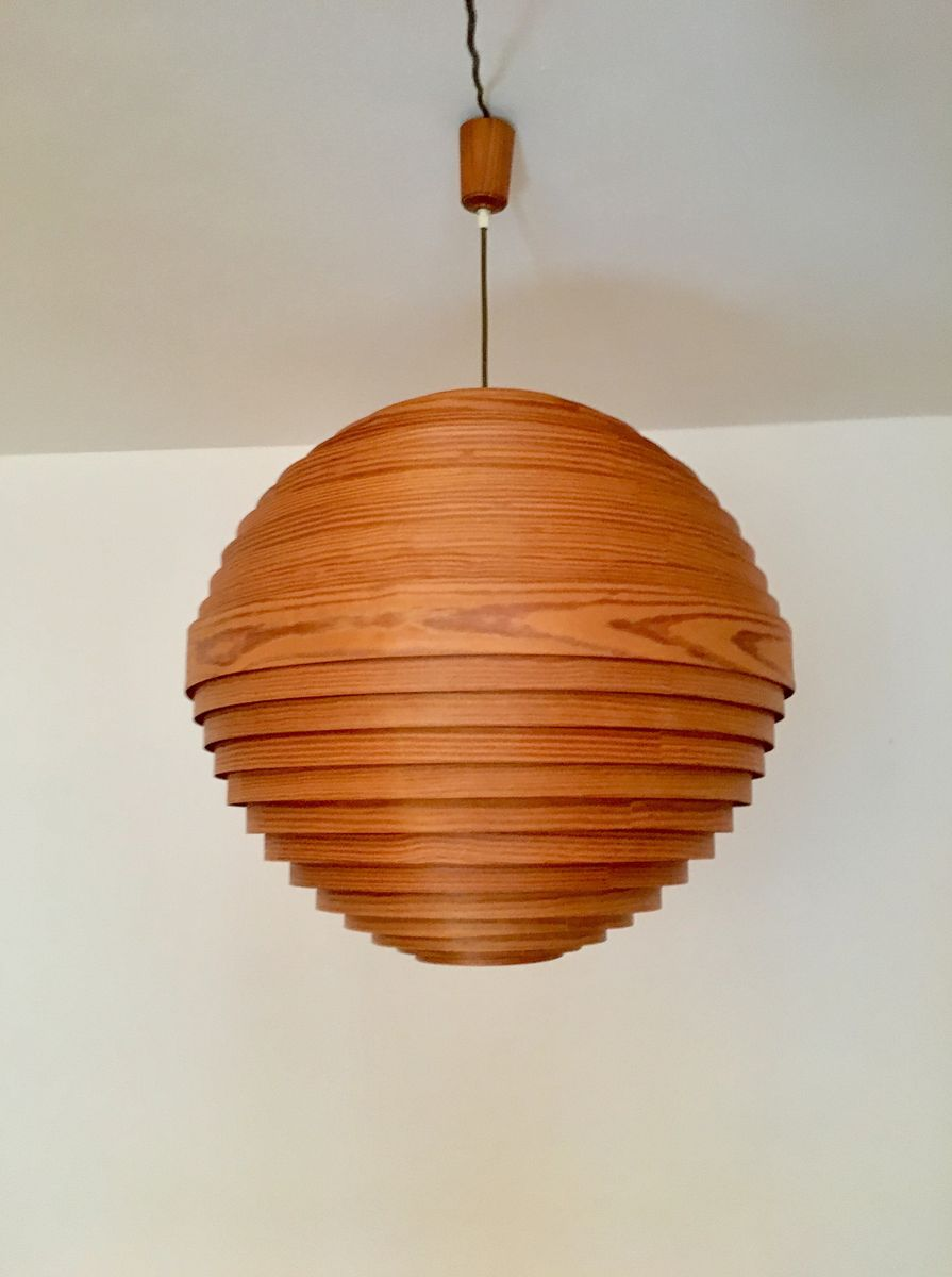 wood pendant lighting. Large Wooden Pendant Lamp, 1960s Wood Lighting